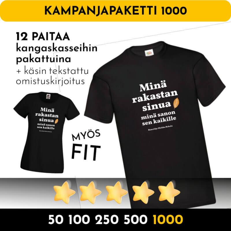 tonnilla paitoja kampanjapaita 1000